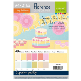 2927-305-Florence • Cardstock smooth A4 12x5 Pastel (60 vel)