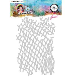ABM-SFT-CD18 - ABM Cutting Die Fishnet So-Fish-Ticated nr.18