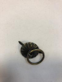 splitsluiting bronskleurig