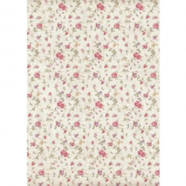 DFSA4401-Stamperia Rice Paper -A4 -Texture Small Roses