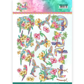 CD11333-3D Bogen-Yvonne Creations-Exotic Birds