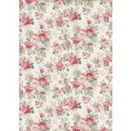 DFSA4402-Stamperia Rice Paper- A4 -Texture Big Roses