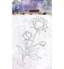 STAMPJMA21 - Studio Light - JMA Clear Stamp Rose Time to Relax 2.0