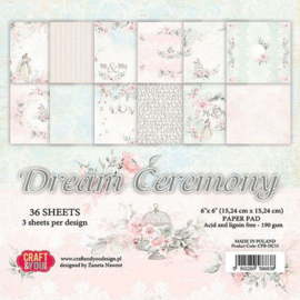 CPB-DC15-Craft&You Dream Ceremony -Small Paper Pad- 6x6- 36 vel