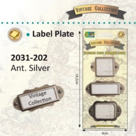 2031-202 - Vintage label plates x3 ass. silver