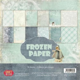"CPB-FP15-Craft&You Frozen Paper Small Paper Pad -6""x6""-15,24cmx15,24cm- 36 vel"