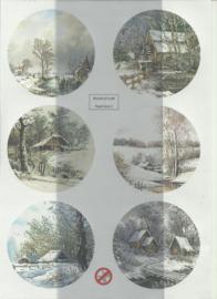 BOWOC 150-2202-UV sneeuwlandschap uitdrukvel