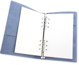 115633/1910-CraftEmotions Ringband Planner - voor papier A5-148x210mm - Jeans – lichtblauw PU leather - Paper not included