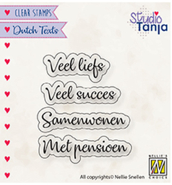 DTCS024- - Dutch texts, Veel liefs etc..-clear stempel-studio Tanja