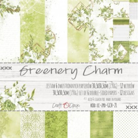 CC-ZPD-GCH-21 - Craft O'Clock Greenery Charm