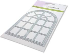 115633/0535-CraftEmotions Die - toog venster Card 10,5x14,8cm 10,2 x 14,1 cm