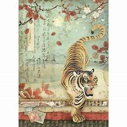 DFSA4393-A4 Rice paper packed Tiger