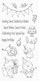 My Favorite Things Sending Sweet Celebration Wishes Clear Stamps (SY-11)