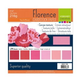 2923-104-Florence • Cardstock multipack 15,2x15,2cm Roze