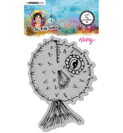 ABM-SFT-STAMP15 - ABM Cling Stamp Harry (Blowfish) So-Fish-Ticated nr.15