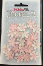 3866 031-Hobbyfun Florella bloemen-ca. 2cm-zacht rose