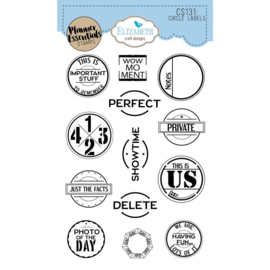 CS131 - Elisabeth Craft Circle Labels stamps