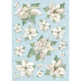 DFSA4494-Stamperia Rice Paper A4 Poinsettia Texture