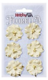 3866 022-Hobbyfun Florella Blumen- ca. 3,5 cm- Creme