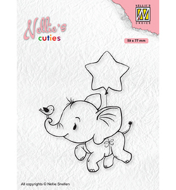 NCCS011 - Nellie Snellen-Christmas Elephant with star