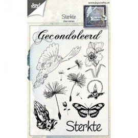6410/0463-clear stempel condoleance-Joycrafts
