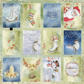 117020/1007-Craft&You Winter Dream sheet of elements to cut out 12X12 CP-WDR07