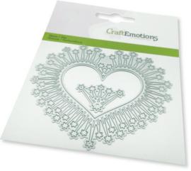 115633/0449-CraftEmotions Die - border hart magic stars Card 11x9cm -cm
