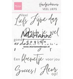 CS1050 - clear stempel-Handgeschreven - Veel liefs-MarianneDesign