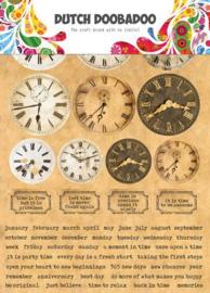 491.200.003-Dutch Doobadoo Dutch Sticker Art A5 Clocks