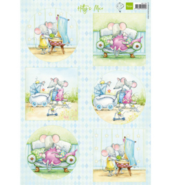 HK1709 - Hetty's mice baby-A4 knipvel-MarianneDesign