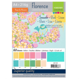 2927-301-Florence • Cardstock smooth A4 12x5 Spring (60 vel)