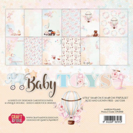 Craft&You Baby Toys Big Paper Set 30.48x30.48 cm 12 vel CPS-BT30