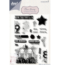 6410/0529 - Joy crafts - Clearstempel Streetwear