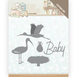 YCD10234 - Dies - Yvonne Creations - Newborn - Stork