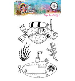 ABM-SFT-STAMP12 - ABM Clear Stamp Deep sea diving So-Fish-Ticated nr.12
