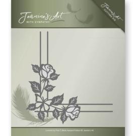 JAD10014 - Die - Jeanine's Art - With Sympathy - Rose Corner