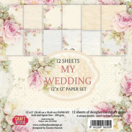 117020/0430-Craft&You My Wedding Big Paper Set 12x12 12 vel CPS-MW30