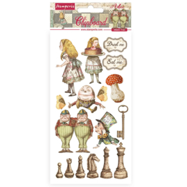 DFLCB38 - Stamperia Chipboard 15x30cm Alice Through the Looking Glass