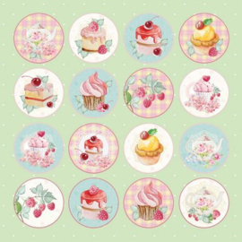 117020/1107-Craft&You Sweet Dessert sheet of elements to cut out 12X12 CP-SD07
