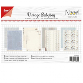 6011/0607-Papierset - Design Vintage Babyboy-Joy crafts