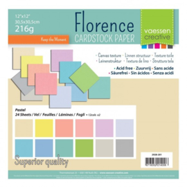 2928-201-Florence • Cardstock multipack 30,5x30,5cm Pastel