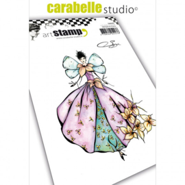 SA60401-Carabelle cling stamp A6 fee nature by Soizic