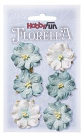 3866023-FLORELLA-Blüten hellblau, 3,5cm