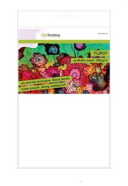 001286/3200-CraftEmotions Synthetisch papier - Yupo wit 10 vl A4 - FEB 200 gr