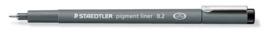 320300/0172-Staedtler pigment liner fineliner- 0,2 mm- zwart