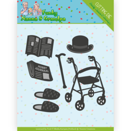 YCD10159-Dies - Yvonne Creations - Funky Nanna's - Grandpa Accessoires