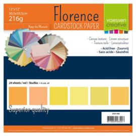 "2923-006- Florence cardstock 216gr 12x12"" x24 Multipack Gelb"
