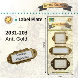 2031-203 - Vintage label plates x3 ass. gold