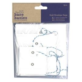 PMA 174228-Kraft Envelope Bags- Square White- 6 stuks
