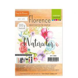 2911-0002-Florence-Aquarelpapier texture- 300- A5 15pcs